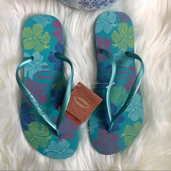 a811628698715 Havaianas Shoes - New Havaianas Slim Green Ocean Flip Flops